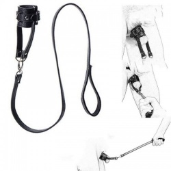PU Leather Ball Stretcher with Leash by MAE-Toys - mae-sm-079