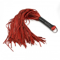 Red Leather Flogger by Saxos - fp-120