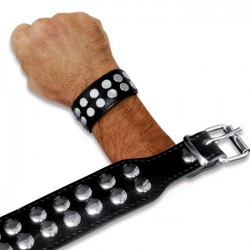 LederenArmband met Studs van Saxos - os-0229-2