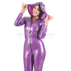 Hooded PVC Catsuit by PVC-U-LIKE - pul-su15