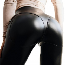 Imitation Leather Jeans by MAE-Wear - mae-cl-096