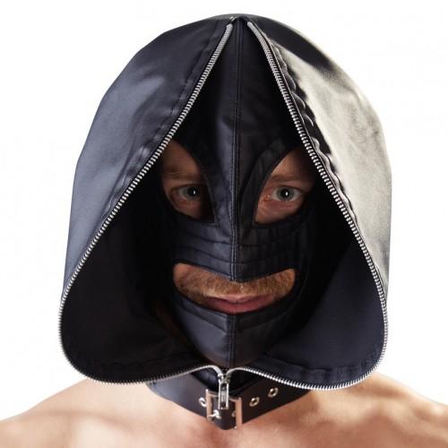 LederimitatDoppel-Kopfmaske