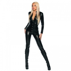 Zwarte Wetlook Catsuit van MAE-Wear - mae-cl-102
