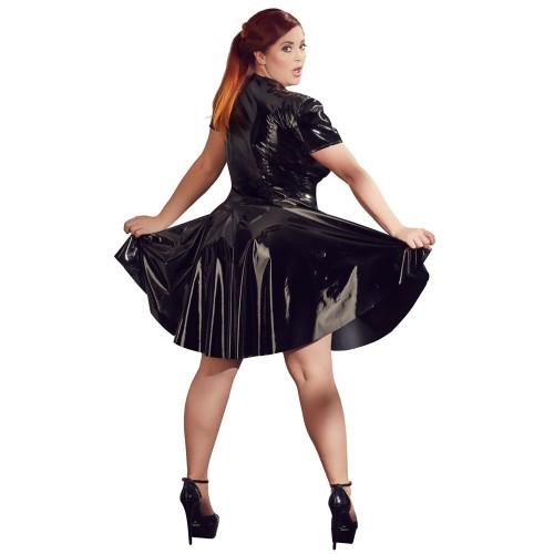 Plus Size Lackkleid mit Zip von Black Level - or-2851300