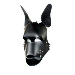 Lederen Dogface Masker van Kiotos  - 134-kio-0149
