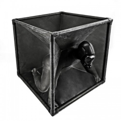 Latex Vacuum Cube by Rubber Shock, an essential for any BDSM, bondage and latex fetishist! Available in black, red & smoky grey