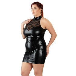 Plus Size Minikleid aus Wetlook von Cottelli Collection Plus - or-2716437
