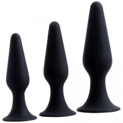 Hands Free Anal Plug Set - Black - 211800023