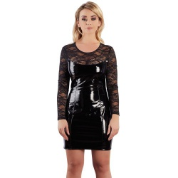 Lak Mini jurk met kant van Black Level - or-285132610