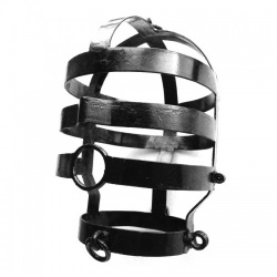 Black Coated Head Cage - Large by Kiotos Steel - opr-112-kio-0110-bl