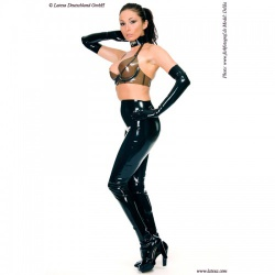 Latex Leggings with Feet by Latexa - la-1193