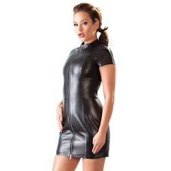 Minikleid aus Leder mit Reißverschluss - or-200088110