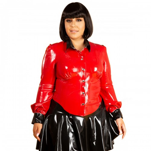 Plus Size Rubber School Mistress Blouse