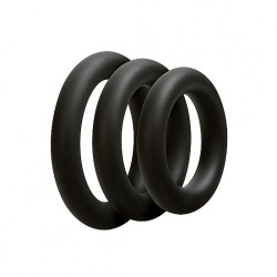 Thick Cockring 3 Set - Black by Doc Johnson - sht-0690-04-bx