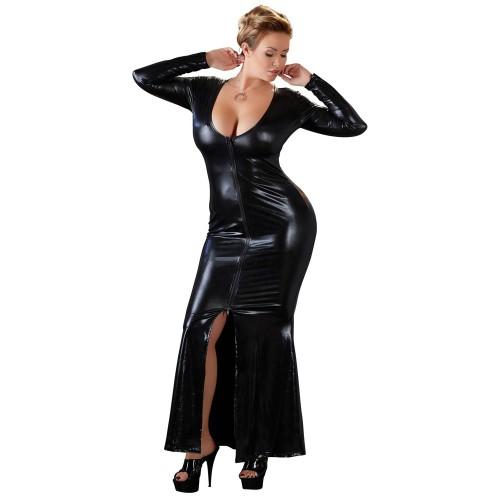 Plus Size Wetlook-Kleid von Cottelli Collection Plus - or-2715163