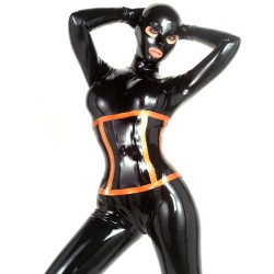 Fetish latex onderborstcorset van Latexa - la-3075