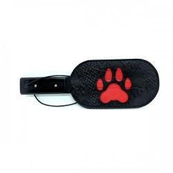PU Lederen Puppy Paw Paddle van Black Label - du-138233