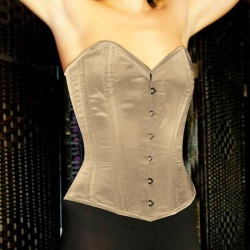 Carmen ivoor satijn bovenborst corset - car-tx2-036-ivory