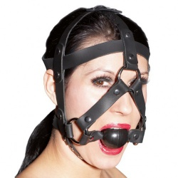 Leather Gag Harness by ZADO - or-20200411000
