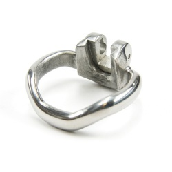 Steel Chastity Cage Ring (mae-sm-065 series) by MAE-Toys - mae-sm-065-ring