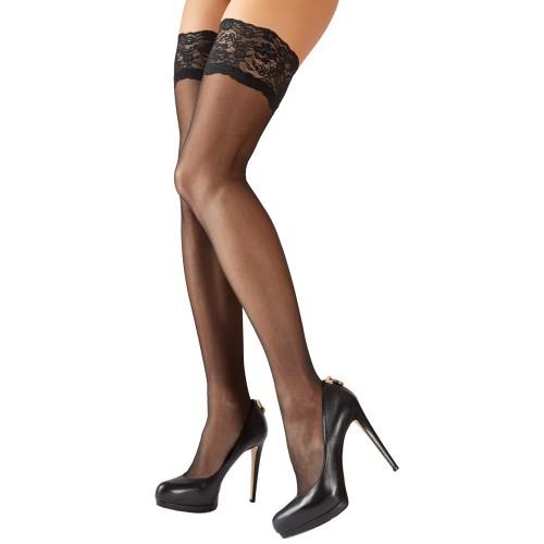 Halterlose Strümpfe von Cottelli Collection Stockings - or-2520494
