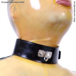 Latex Heren Collar met D-ring van Latexa - la-3188