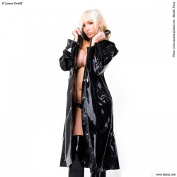 Ladies' Latex Trenchcoat by Latexa - la-3066