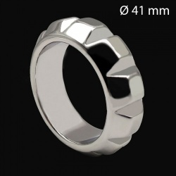 Roestvrijstalen Diamond Cockring 41 mm - mae-133896