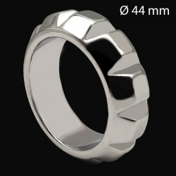 Roestvrijstalen Diamond Cockring 44 mm - mae-133895