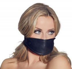 Leather Mouth Mask with Silicon Ballgag - or-20202381001