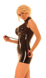 Fetish latex Dress with breasts by Anita Berg AB4534 - ab4534