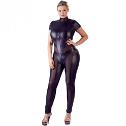 Jumpsuit with Net by Cottelli - or-273044810