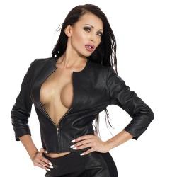 Ledapol Leather jacket w.zipper - le-5812