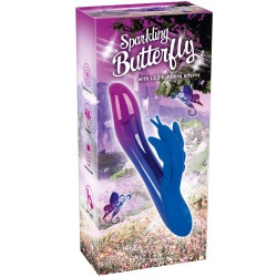 LED oplaadbare sprankelende Butterfly vibrator van You2Toys - or-05942100000