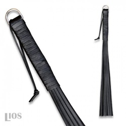 Black Cowhide whip of 45 cm long - os-0149-s