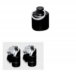 Zwart metalen gewichten met klem 100 gram (2x50 gram) - os-0253-1