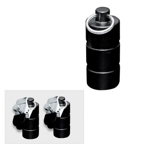 Zwart metalen gewichten met klem 200 gram (2x100 gram)