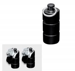 Zwart metalen gewichten met klem 200 gram (2x100 gram) - os-0253-2