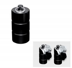 Zwart metalen gewichten met klem 600 gram (2x300 gram) - os-0253-4