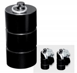 Zwart metalen gewichten met klem 1000 gram (2x500 gram) - os-0253-6