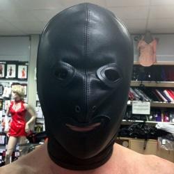 Klassiek lederen SM Masker van HG-Leather - hg-cbm