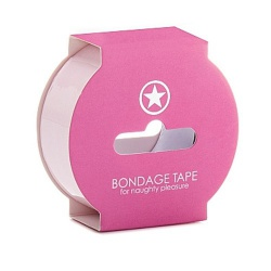 Non Sticky 24mm wide Bondage Tape - Pink - sht-oubt003lpnk