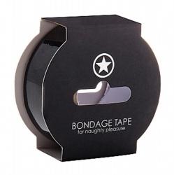 Non Sticky 24mm wide Bondage Tape - Black - sht-oubt003blk