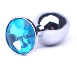Attractive Butt Plug Blue Jewelry  Ø 1.3 inch / 34 mm - bhs-106blue34