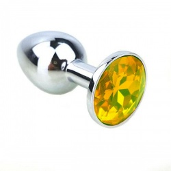 Attractive Butt Plug Yellow Jewelry  Ø 1.3 inch / 34 mm - bhs-106yellow34
