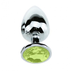 Attractive Butt Plug Lime Jewelry  Ø 1.3 inch / 34 mm - bhs-106lime34