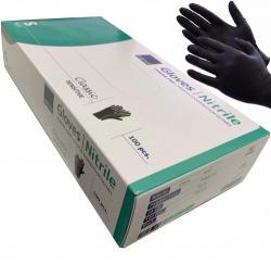 Zwarte Handschoenen nitril Cat III ongepoederd - Small - dd-99216912k