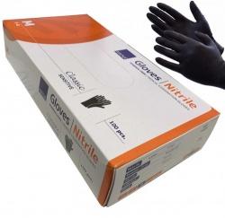 Zwarte Handschoenen nitril Cat III ongepoederd - Medium - dd-99216900k
