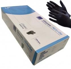 Zwarte Handschoenen nitril Cat III ongepoederd - Large - dd-99216902k