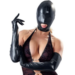 Wetlook Kopfmaske mit Mundöffnung und RV - mae-cl-189